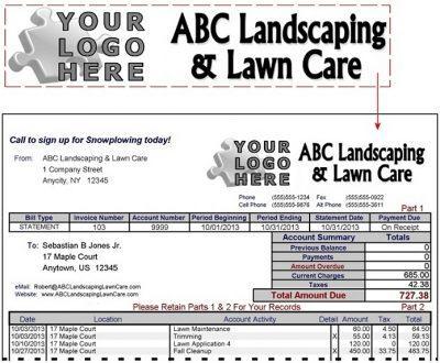 lawn care logo design