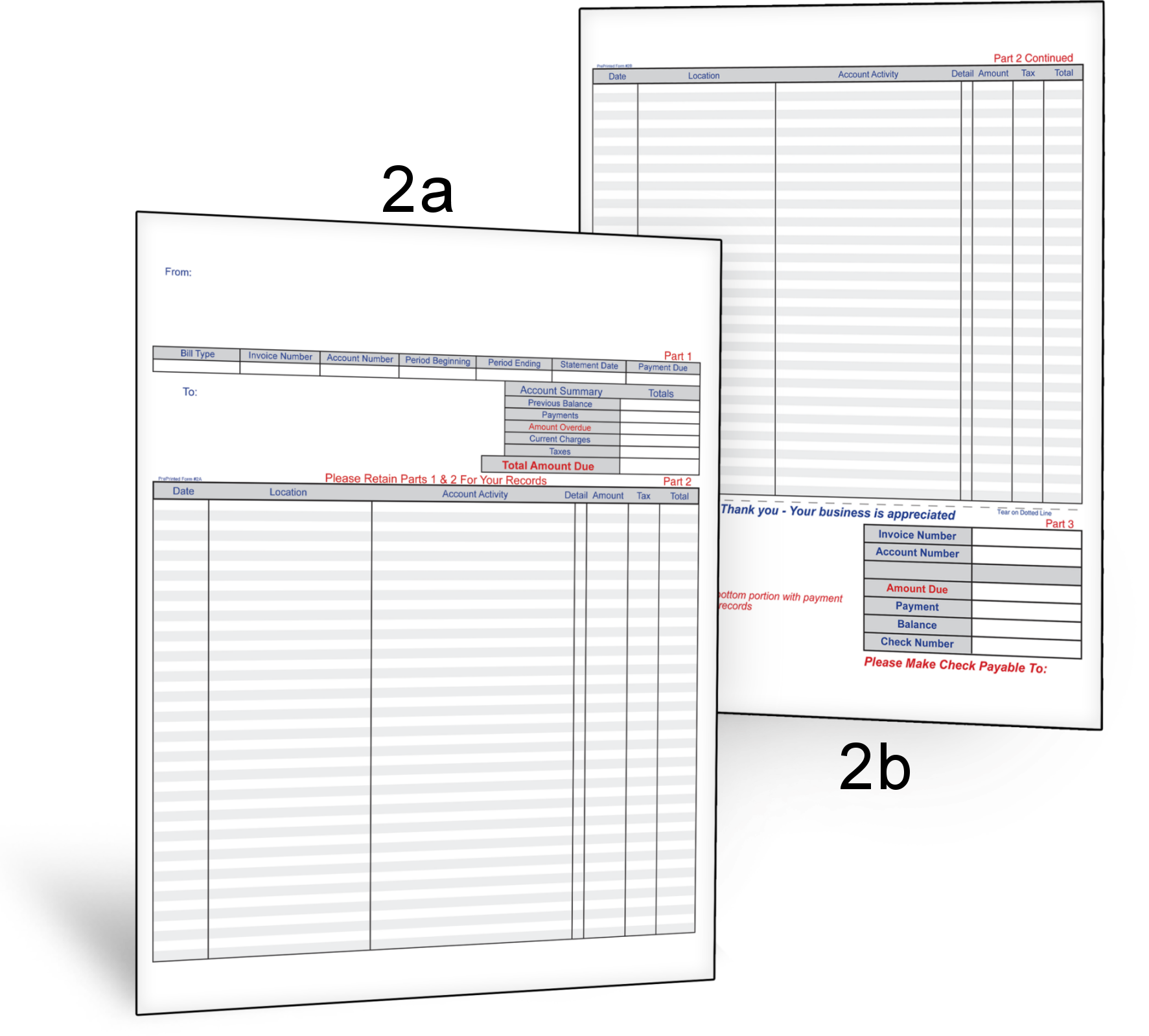 invoice form 2a 2b lawn care business software